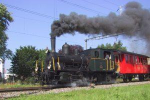 125 Jahre Bischofszellerbahn - Dampflok E 3/3 10 in Sulgen am 23.06.2001 | Bild: M. Simmons