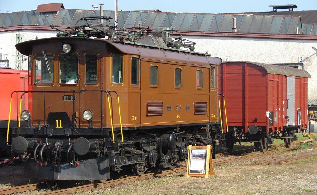 Be 4/4 BT-14 steht in Haltingen am 9. September 2007 | Bild: H.P. Leu