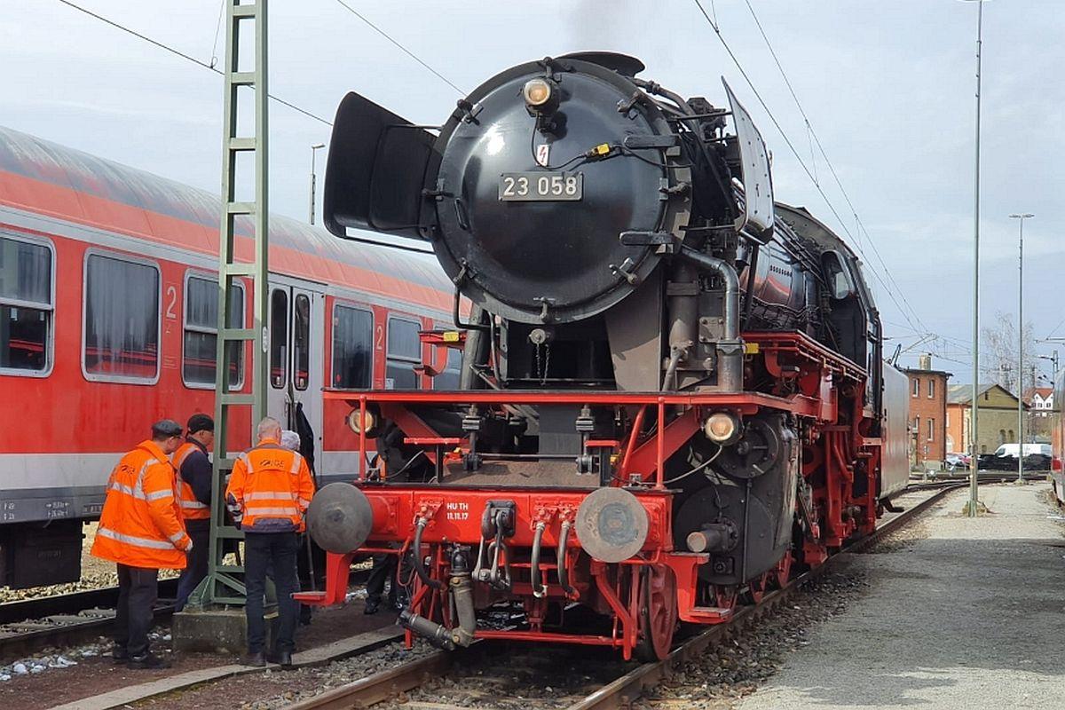 Eurovapor Dampflok 23 058 steht bereit zur Probefahrt 28.02.2020 | Bild: EV-Gruppe 23058 /ZVG
