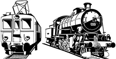 Grafik mit Saft-Express und Dampflok C5/6 Elefant