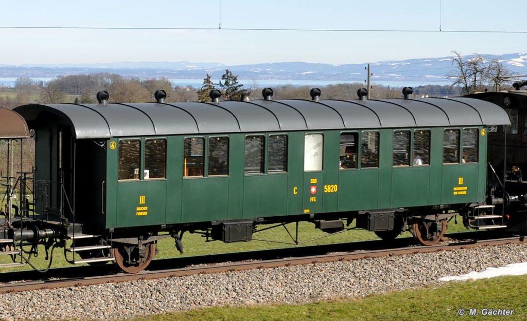 Historischer Personenwagen C2 5820 «Thurgauer Stube» 21. Februar 2010 Bild: M. Gächter