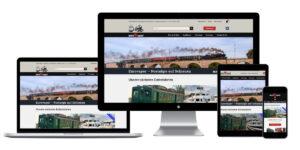 Bildschirmausschnitt der neuen Homepage auf einem Laoptop, Desktop-PC, Tablet und Smartphone