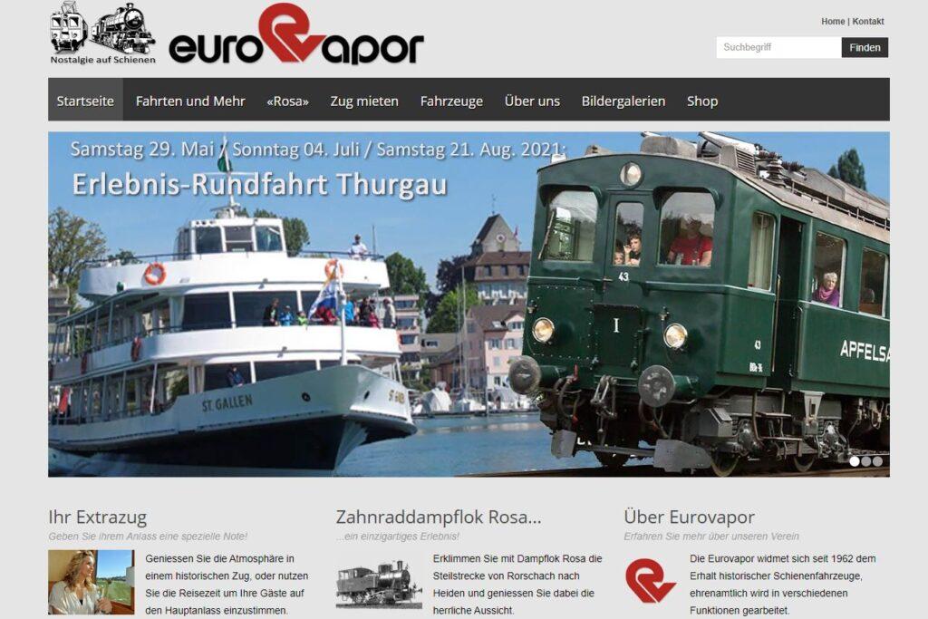 Bildschirmfoto der Homepage von 2014 bis 2021